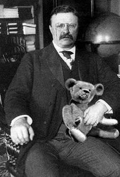 26th president Theodore Roosevelt and teddy bear | I added t… | Flickr