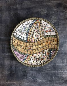 "A personal favorite from my Etsy shop https://www.etsy.com/ca/listing/279725510/mosaic-mosaic-plate-mosaic-bowl-home Mosaic plate ""Spring"""