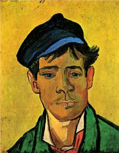 Young Man with a Hat, oil on canvas, 47 x 39 cm, Private Collection, Vincent van Gogh Vincent Van Gogh, Artist Van Gogh, Van Gogh Art, Art Van, Theo Van Gogh, Van Gogh Pinturas, Van Gogh Portraits, Van Gogh Paintings, Van Gogh Museum