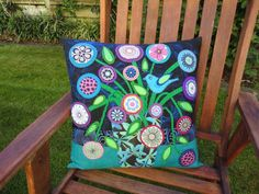 Wendy's quilts and more: Wool felt applique cushions