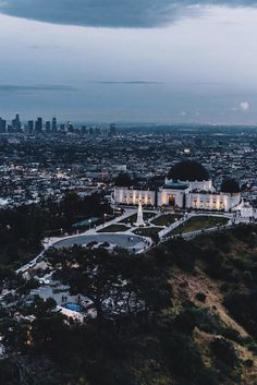Griffith Observatory overlooking Los Angeles California [873 1309]