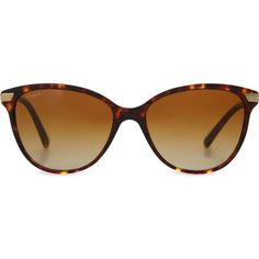 BURBERRY B4216 tortoiseshell cat-eye sunglasses ($255) ❤ liked on Polyvore featuring accessories, eyewear, sunglasses, havana, tortoise shell glasses, tortoise sunglasses, cateye sunglasses, round glasses and tortoise shell cat eye sunglasses