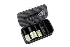 Whether you're headed to the boardroom or the beach, keep up your regular close-shave routine with The Art of Shaving Travel Kit, housed in a handsome water-resistant case that includes a Fusion Razor and Pure Badger Travel Shaving Brush, along with travel sizes of Pre-Shave Oil, Shaving Cream and After-Shave Balm.
