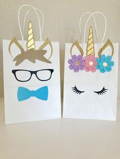 Unicorn Fairytale Boy and Girl Birthday Party Favor Bags🦄 Perfect addition to your Unicorn themed Party!Unicorn Party Favors - It doesn't get much cuter than unicorn goody bags, people.Decorate your own gift bags Unicorn Themed Birthday Party, Unicorn Birthday Parties, Birthday Party Favors, Baby Birthday, Birthday Party Decorations, Unicorn Party Bags, Birthday Ideas, 7th Birthday Party For Girls Themes, Fairytale Birthday Party
