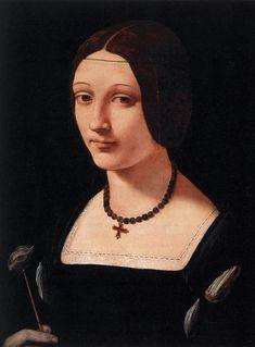Giovanni Antonio Boltraffio, Portrait of a Lady as Saint Lucy (c. 1500)