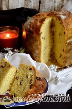 Panetone-u tri koraka ! Bakery Recipes, Easy Cake Recipes, Dessert Recipes, Cooking Recipes, Bread Recipes, Italian Cookie Recipes, Croatian Recipes, Kolaci I Torte, Sweets Cake