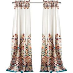 enhance your decor with modern paisley patterns emphasizing the top and bottom of the curtain