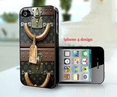 Louis Vuitton Vintage luggage Iphone 4 cell phone accessory case, Iphone case, Iphone 4s case, via Etsy