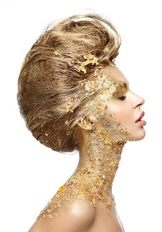 golden and glamorous www.makeup-partner.ch (artist unknown)