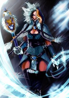 Crystal Maiden by nahnahnivek.deviantart.com on @deviantART