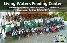 We have a lot of mouths to feed every day. Please consider supporting the nutritional needs of these children.  Many of them are orphans and the meals we prepare are usually the only food they receive. Visit LivingWatersIntl.org to learn more.