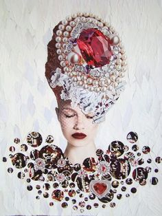Meet the artist: Emilia ElfeToday's artist is Emilia Elfe from Moscow, Russia. She makes extraordinary collages. Face Collage, Art Du Collage, Mixed Media Collage, L'art Du Portrait, Portraits, Pop Art, Collages, Emilia, Pink Photography