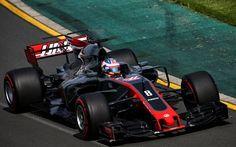 Download wallpapers Romain Grosjean, 4k, Haas F1 Team, VF17, 2017 cars, Formula 1, F1