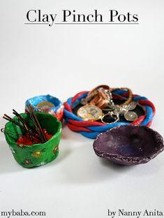 Clay Pinch Pots | Nanny Anita | My Baba Slab Pottery, Ceramic Pottery, Ceramic Bowls, Ceramic Art, Sculpture Clay, Ceramic Sculptures, Make Your Own Clay, Handmade Pottery, Handmade Ceramic