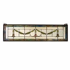 Garland Swag Stained Glass Window