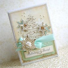 Christmas Card - Winter Snowflakes