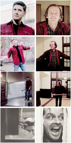 [gifset] 10x02 Reichenbach vs. The Shinning This was done so intentionally:) #SPN #Dean #DemonDean
