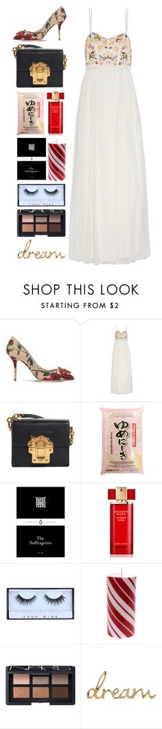 """""""5.353"""" by katrina-yeow ❤ liked on Polyvore featuring Dolce&Gabbana, Needle & Thread, Zimmermann, Estée Lauder, Huda Beauty and NARS Cosmetics"""