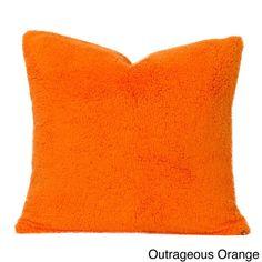 """Sis pillow 16"""" pl plsh outrageous orange"""