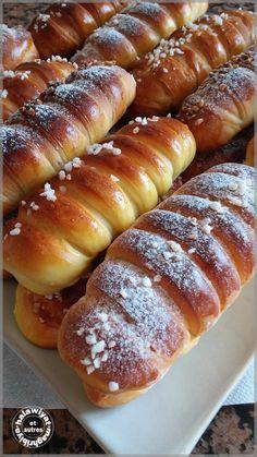 caterpillar buns with pastry cream and cocoa - Halawiyat Maghribiya Brioche Bread, Bread Bun, My Recipes, Bread Recipes, Cooking Recipes, Eggnog Pancakes Recipe, Plats Ramadan, Tunisian Food, Cuisine Diverse