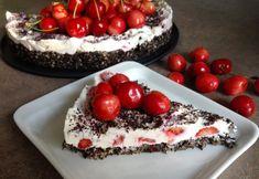 Nepečená makovo-tvarohová torta s čerešňami - Fitshaker Cheesecake, Fit, Desserts, Diabetes, Tailgate Desserts, Deserts, Shape, Cheesecakes, Postres