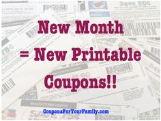 Hot New Monthly Printable Coupons released January 1: over $500 in coupons to print now! - http://www.couponsforyourfamily.com/new-monthly-printable-coupons/