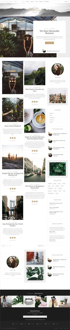 Deep Soul is a creative, stylish, modern and fully functional #WordPress #blog theme for adventure #traveler bloggers website with multiple homepage layouts download now➩ https://themeforest.net/item/deep-soul-lifestyle-wordpress-blog-shop-theme/19652957?ref=Datasata