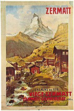 Chemins de fer - Viège-Zermatt & Zermatt-Gornergrat 1898