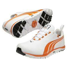 Puma Men's Faas Lite Spikless Orange Stripe Golf Shoes