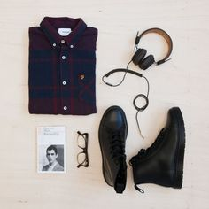 FARAH ESSENTIALS #14. Stay buttoned up with these latest #FarahEssentials. Accessorise our brand #new checked Hemming Shirt with a black pair of Docs - an essential for any shoe collection. Listen to your tunes the right way with these epic headphones from sound pioneers #Marshall. See the full list of products here > http://www.farah.co.uk/blog?post=farah-essentials-14