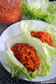 Vegetarian Lentil Sloppy Joe Lettuce wraps - simple, healthy, and delicious!
