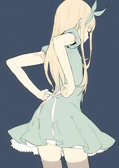 -PENPON- 드레스를 입은 소녀 일러스트 : 네이버 블로그