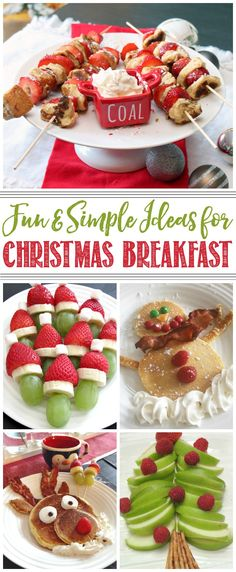 Fun and simple Christmas breakfast ideas to celebrate the holidays!