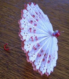 Parchment craft umbrella parasole - la passion de Mamisette