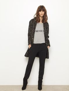 Ba&sh leopard coat.