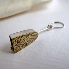 Hey, I found this really awesome Etsy listing at https://www.etsy.com/listing/220734609/bell-earring-sterling-silver-and-brass