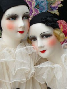 Beautiful dolls, but again, she redresses all her dolls.