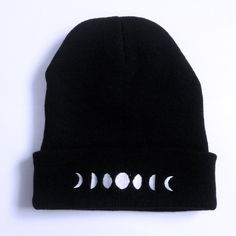 Phases of the Moon Beanie  https://www.etsy.com/listing/162909577/the-phases-of-the-moon-beanie