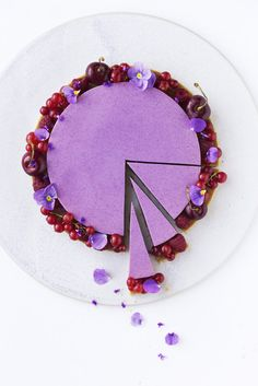 Blackberry Buttermilk Mousse Cake by Maja Vase