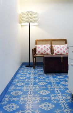 Persian Carpet at the Abode Hotel in Colaba. Designed by Sian Pascale..