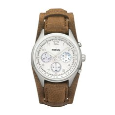 FOSSIL® Watch Styles Leather Watches:Women Flight Leather Watch - Tan CH2795  i want this watch sooo freakin bad...
