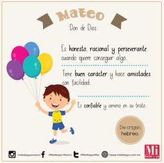 Mateo #NombresDeBebé #RecomendaciónMIB