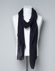 VISCOSE/POLYESTER FOULARD - Scarves and Foulards - Accessories - Man - ZARA