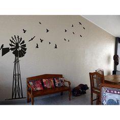 Giant South African Windpump Windpomp Wall Art Sticker Decal Vinyl Interior Decor Decoration for R349.99