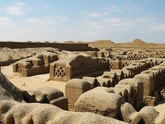 The ancient site of  Chan Chan, near the city of Trujillo, Peru