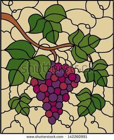 stock-vector-red-grape-with-leaf-vertical-vector-illustration-in-stained-glass-style-142260991.jpg (383×470)