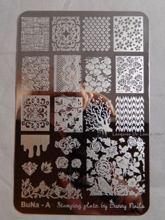 Review: Bunny Nails plates BuNa-A and B Nail art stamp stamping plate spring floral nature bird designs