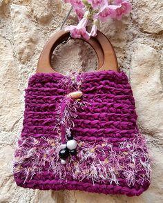 Handtasche,Umhängetasche aus Zpagettigarn von La Isla San auf DaWanda.com