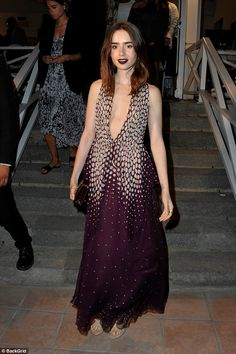 Star-studded: Lily Collins wowed when she took centre stage at the red carpet premiere for...