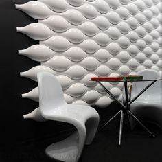 Bubble Wall Texture And A Hanging Chair Retro Future Heaven Futuristic Interiors Pinterest Chairs Shape Heavens